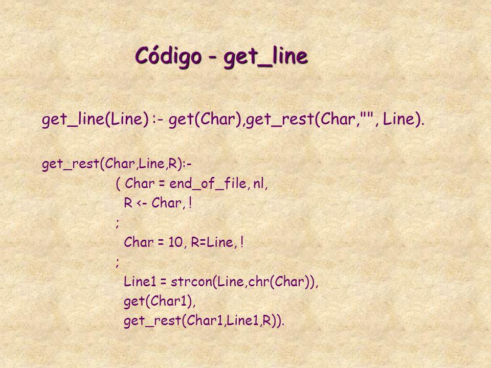 get_line(Line) :- get(Char),get_rest(Char, , Line).