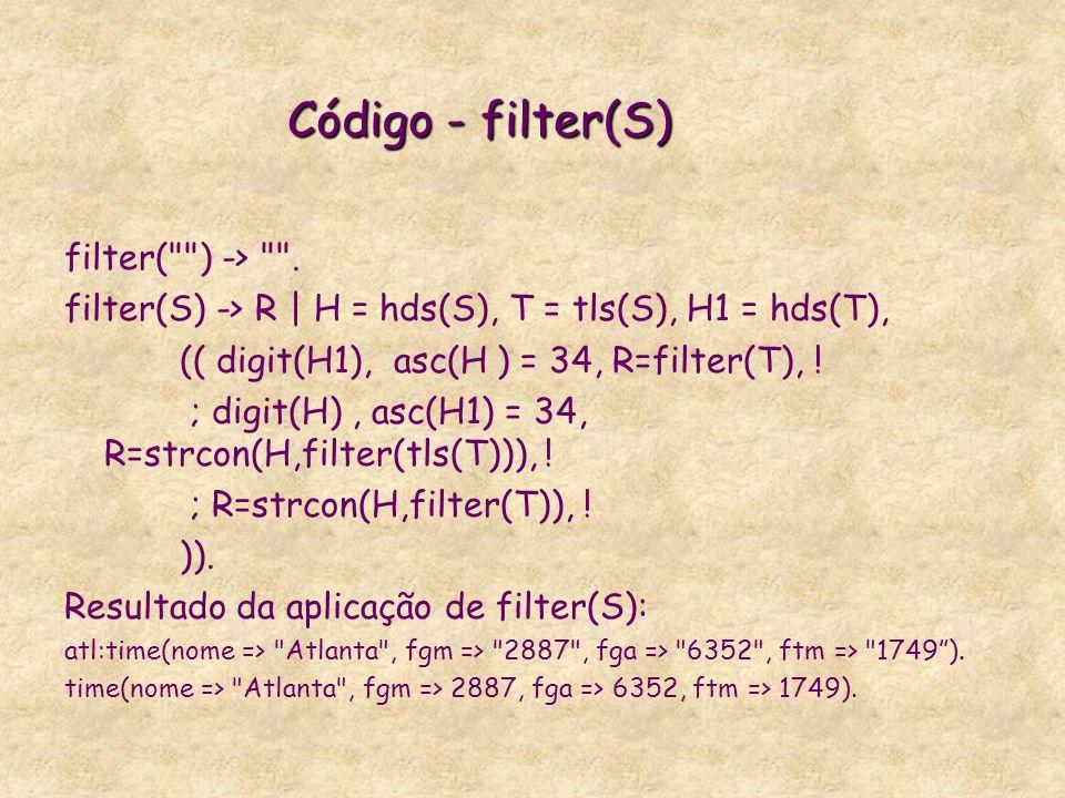 filter( ) -> .