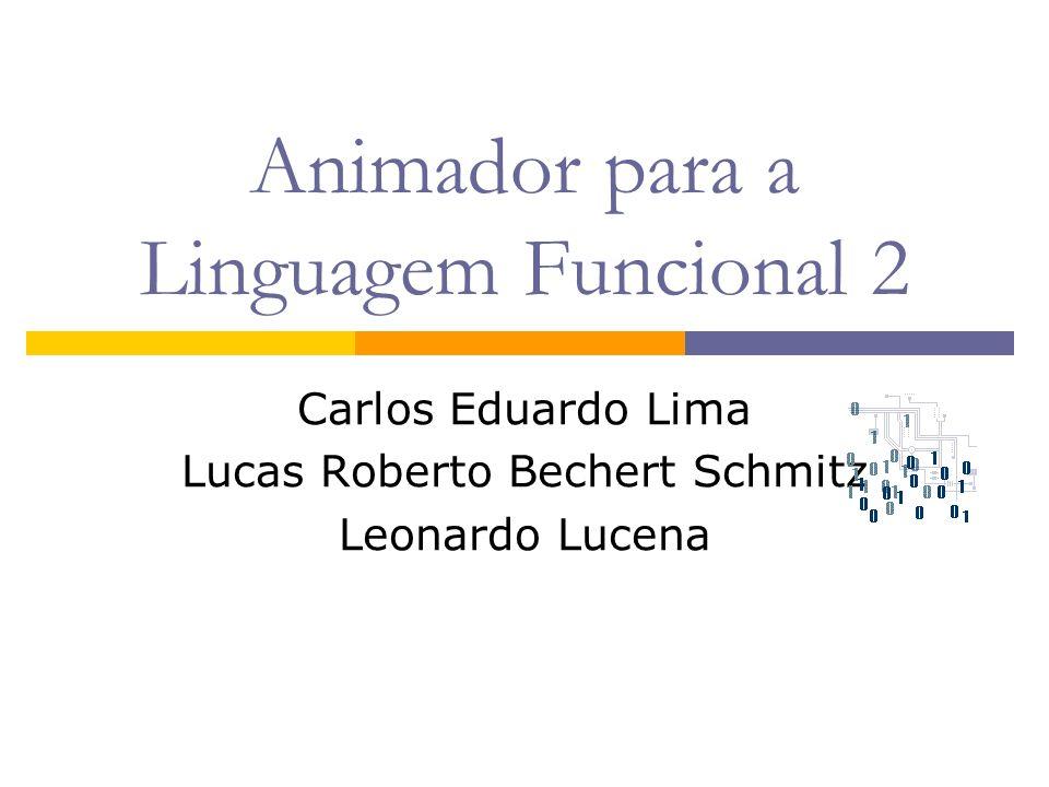 Animador para a Linguagem Funcional 2 Carlos Eduardo Lima Lucas Roberto Bechert Schmitz Leonardo Lucena