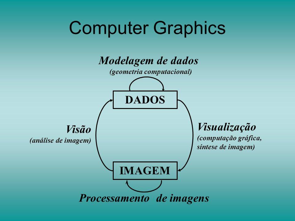 Computer Graphics Processamento de imagens Modelagem de dados (geometria computacional) Visão (análise de imagem) Visualização (computação gráfica, síntese de imagem) DADOS IMAGEM
