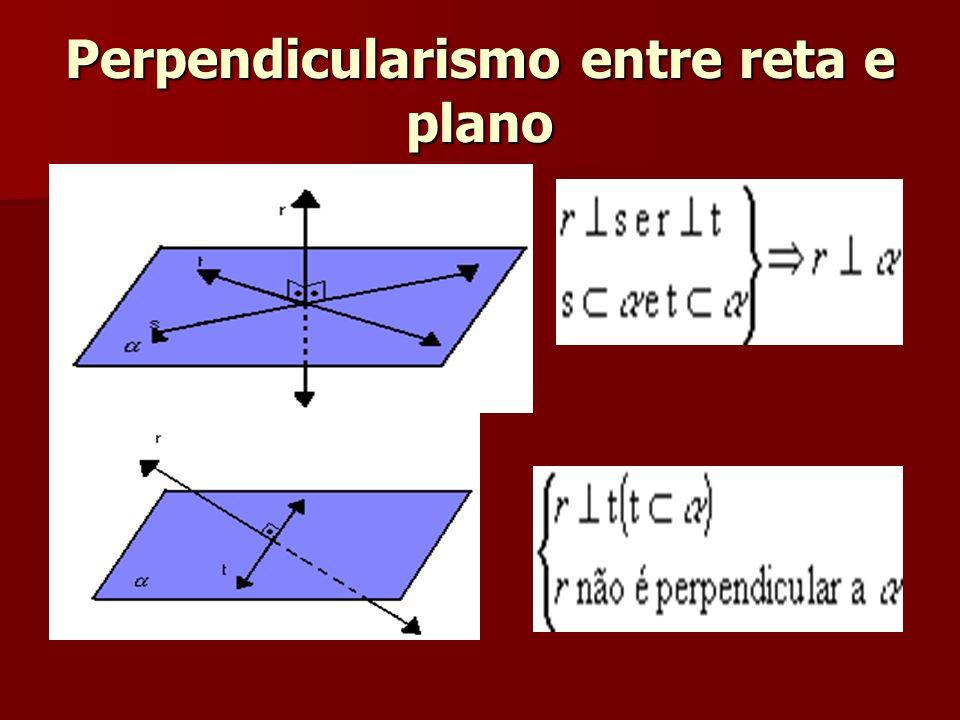 Perpendicularismo entre reta e plano