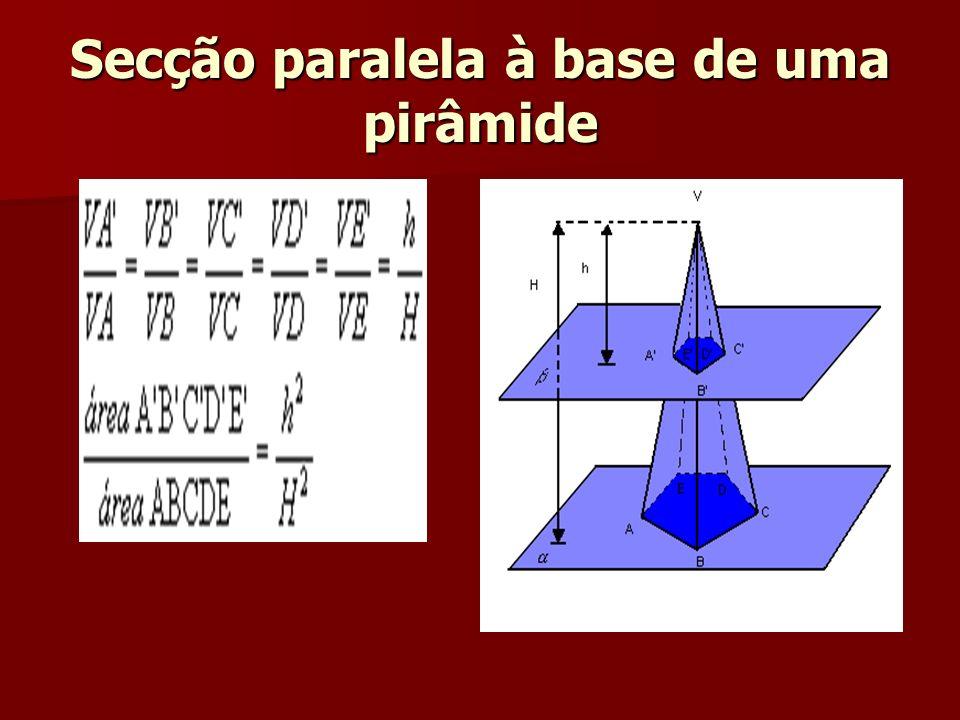 Secção paralela à base de uma pirâmide
