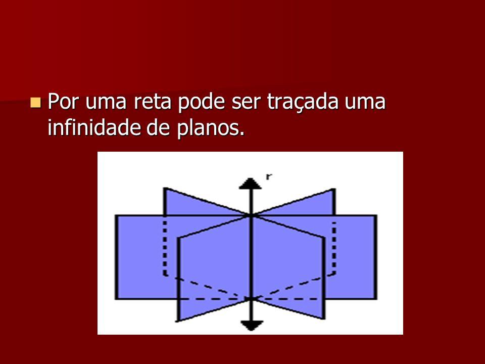 Por uma reta pode ser traçada uma infinidade de planos. Por uma reta pode ser traçada uma infinidade de planos.