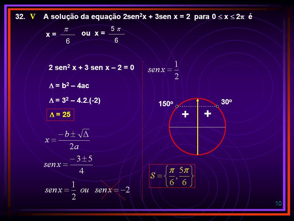 9 16. Para todo x 1 o quadrante, a expressão (sec x – tg x)(sec x + tg x) – sen 2 x é igual a cos 2 x (sec x – tg x)(sec x + tg x) – sen 2 x sen 2 x +