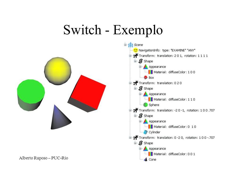Alberto Raposo – PUC-Rio Switch - Exemplo
