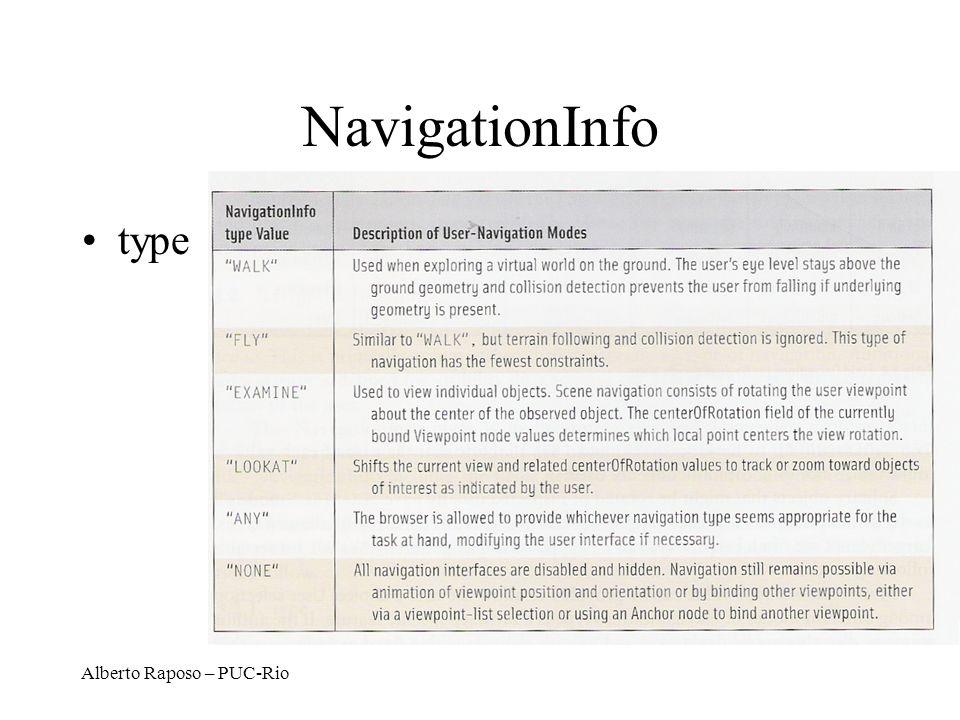 Alberto Raposo – PUC-Rio NavigationInfo type