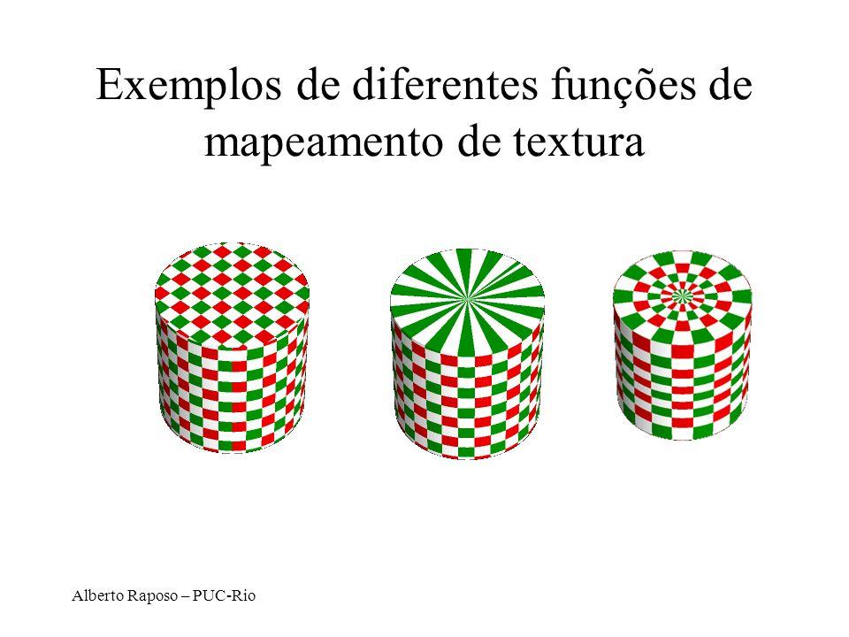 Alberto Raposo – PUC-Rio Exemplos de diferentes funções de mapeamento de textura