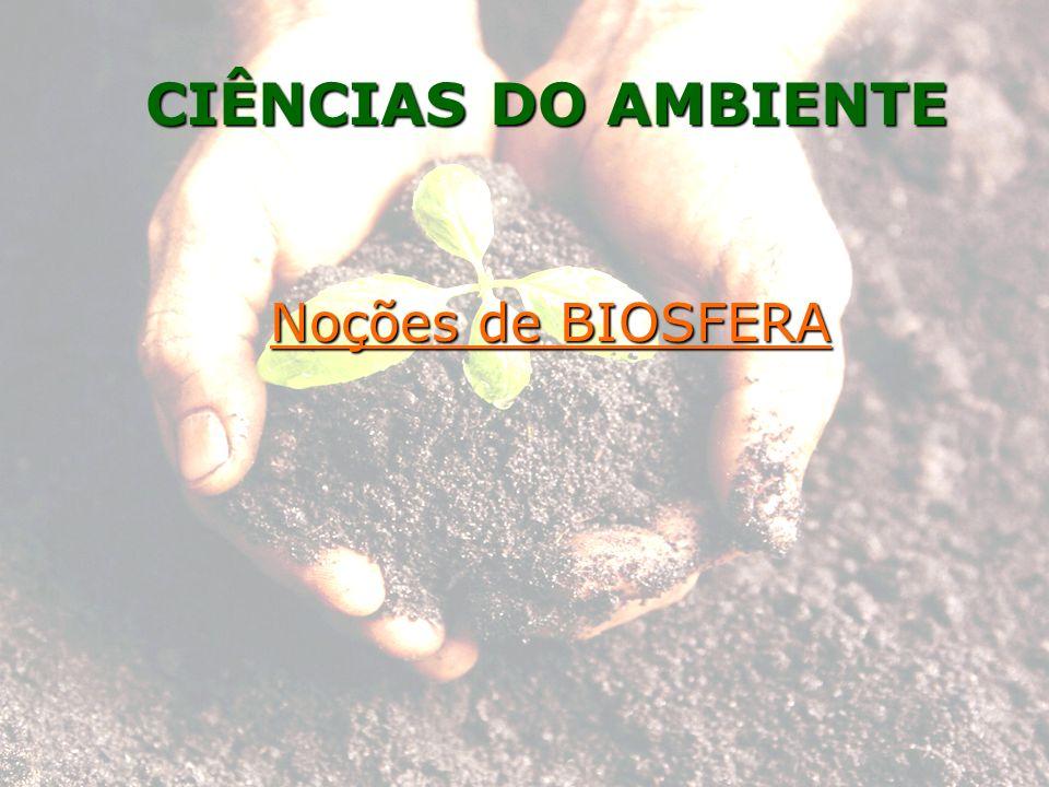 Noções de BIOSFERA CIÊNCIAS DO AMBIENTE