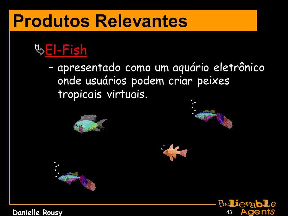Danielle Rousy 43 Produtos Relevantes El-Fish –apresentado como um aquário eletrônico onde usuários podem criar peixes tropicais virtuais.