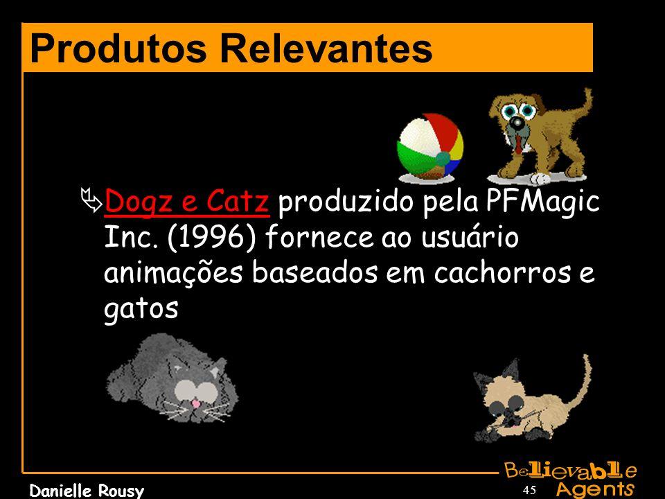 Danielle Rousy 45 Produtos Relevantes Dogz e Catz produzido pela PFMagic Inc. (1996) fornece ao usuário animações baseados em cachorros e gatos Dogz e