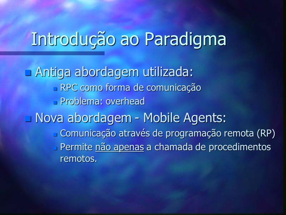 Introdução ao Paradigma n RPC ( Remote Procedure Call ) - Originou-se da necessidade de comunicação entre computadores (desde 1970). n Afirmou-se com