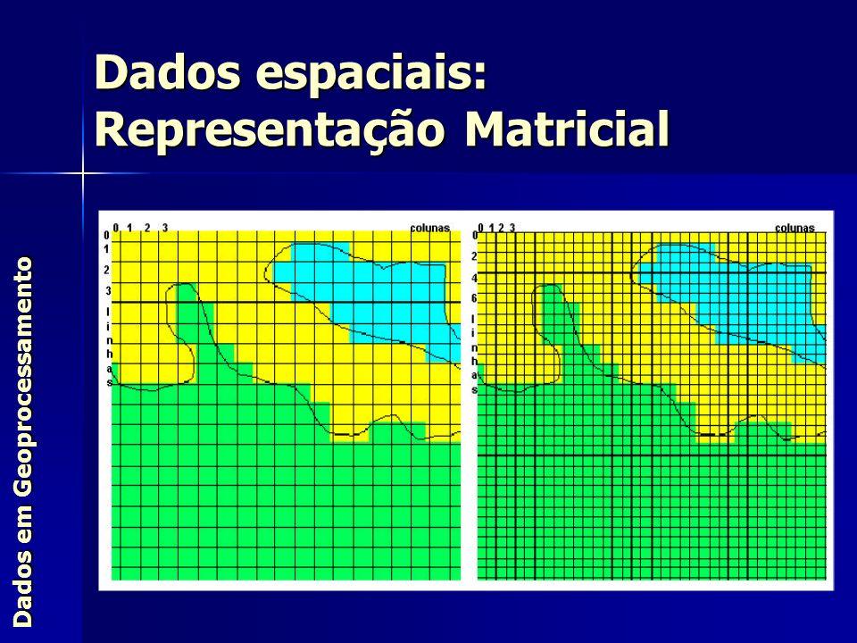 Dados em Geoprocessamento Dados espaciais: Representação Matricial