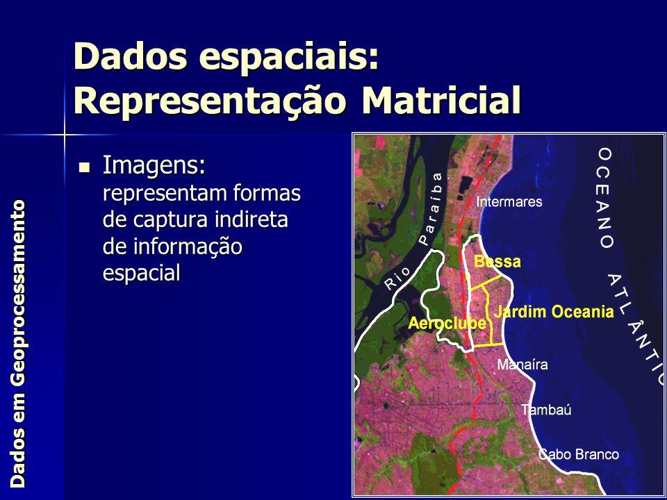 Imagens: representam formas de captura indireta de informação espacial Imagens: representam formas de captura indireta de informação espacial Dados em
