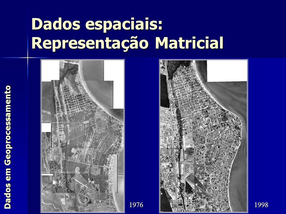 Dados em Geoprocessamento Dados espaciais: Representação Matricial 19761998