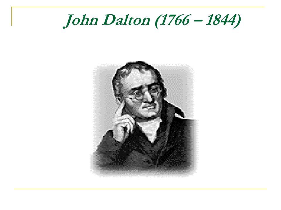 O Átomo de Dalton (1803) John Dalton propôs um modelo de átomo onde pregava as seguintes idéias: toda matéria é composta por átomos; os átomos são indivisíveis; os átomos não se transformam uns nos outros; os átomos não podem ser criados nem destruídos; os elementos químicos são formados por átomos simples;