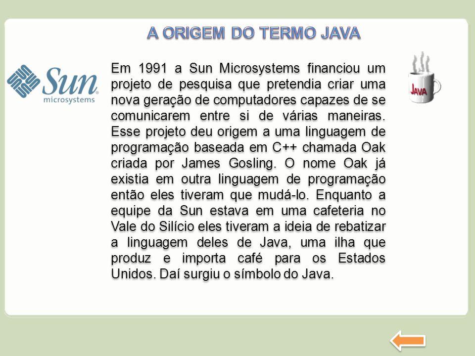Em 1991 a Sun Microsystems financiou um projeto de pesquisa que pretendia criar uma nova geração de computadores capazes de se comunicarem entre si de