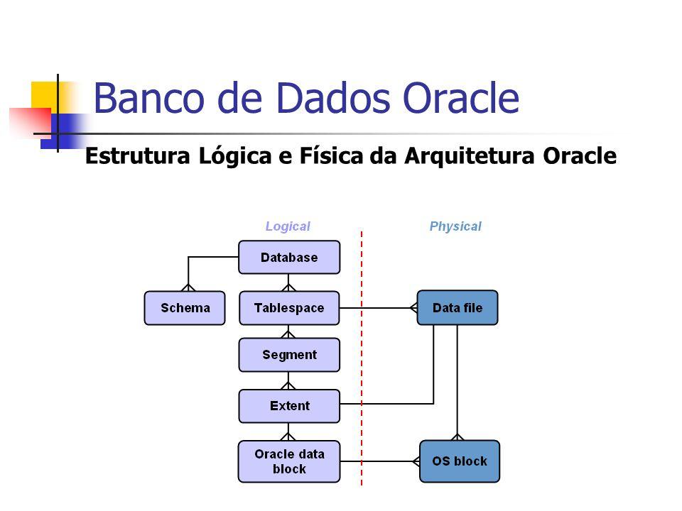 Banco de Dados Oracle Estrutura Lógica e Física da Arquitetura Oracle