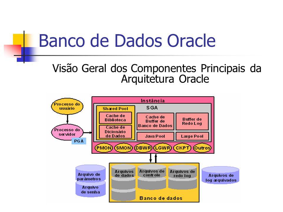 Banco de Dados Oracle Estabelecendo uma Conexão e Criando uma Sessão A conexão pode ser : Dedicada - Para cada processo do usuário se tem um processo de servidor.