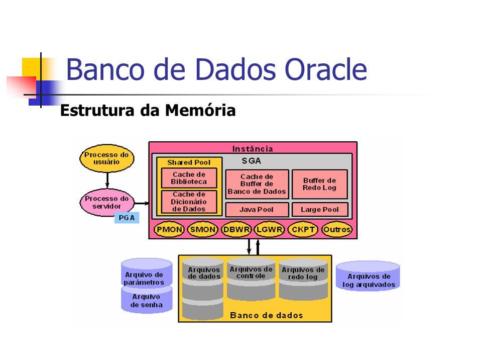 Banco de Dados Oracle Estrutura da Memória
