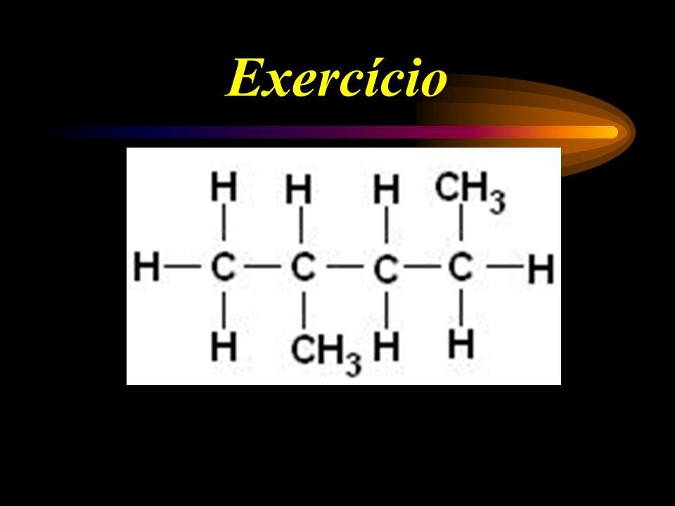 Tipos de Carbono H H CH 3 H H CH 3 H H - C - C - C - C - C - C - C - H H H CH 3 H H H H