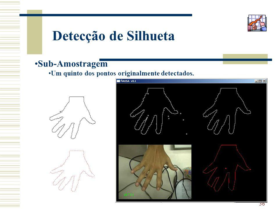 36 Detecção de Silhueta Sub-Amostragem Um quinto dos pontos originalmente detectados.