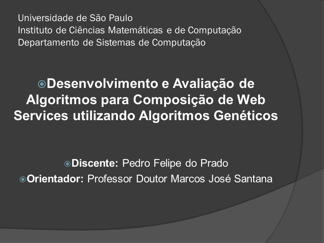 Universidade de São Paulo Instituto de Ciências Matemáticas e de Computação Departamento de Sistemas de Computação Desenvolvimento e Avaliação de Algo