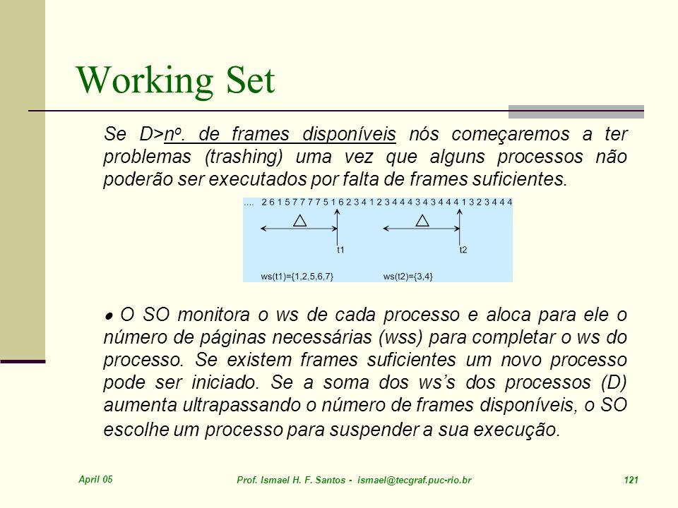 April 05 Prof.Ismael H. F. Santos - ismael@tecgraf.puc-rio.br 121 Working Set Se D>n o.