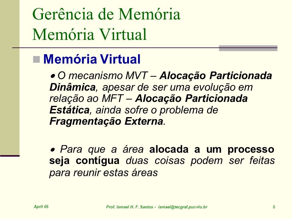 April 05 Prof. Ismael H. F. Santos - ismael@tecgraf.puc-rio.br 56 Shared Pages Example