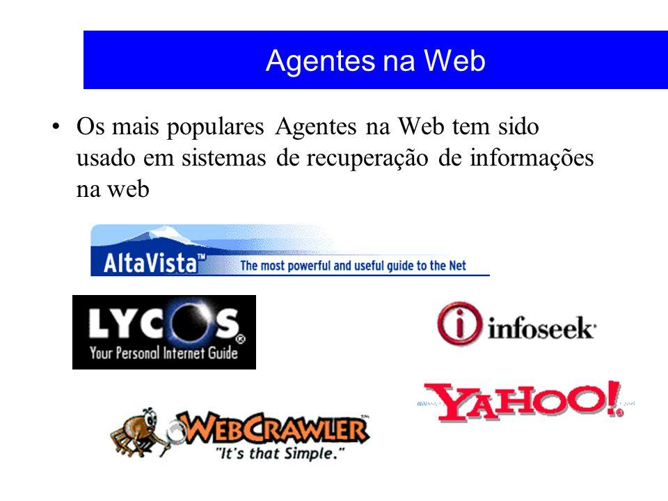 Agentes na Web Os mais populares Agentes na Web tem sido usado em sistemas de recuperação de informações na web