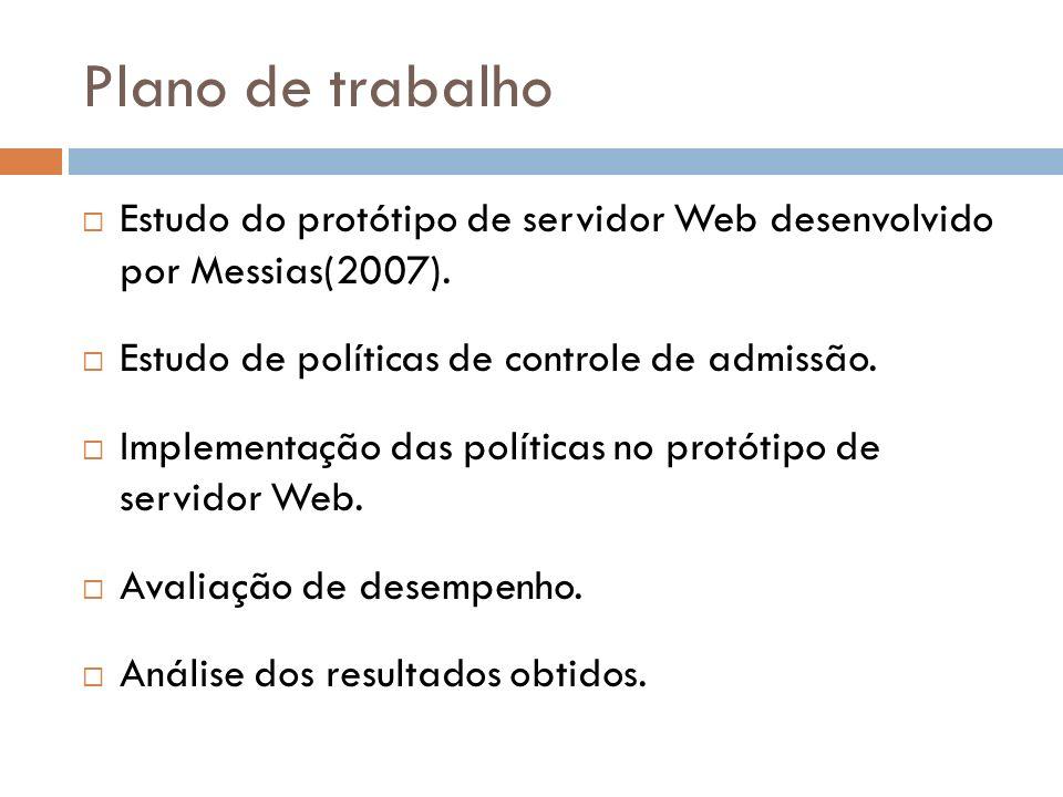 Plano de trabalho Estudo do protótipo de servidor Web desenvolvido por Messias(2007).