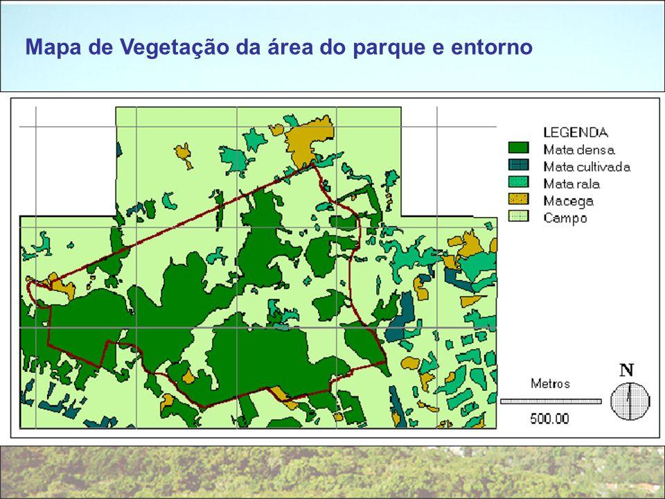 Mapa de Vegetação da área do parque e entorno