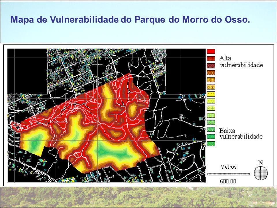 Mapa de Vulnerabilidade do Parque do Morro do Osso.