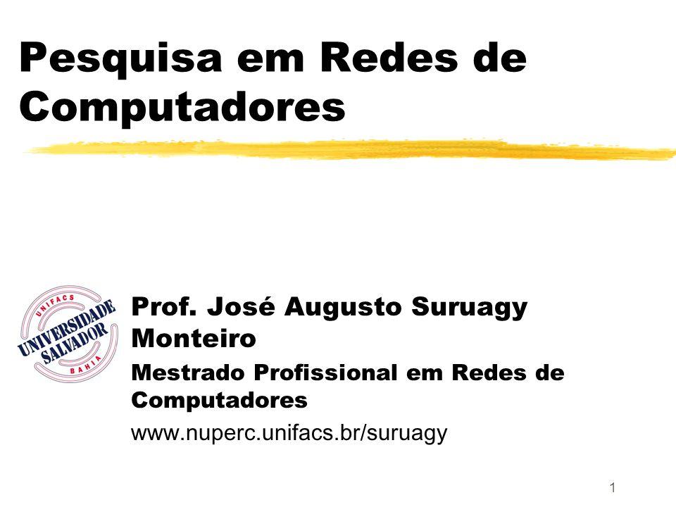 1 Pesquisa em Redes de Computadores Prof. José Augusto Suruagy Monteiro Mestrado Profissional em Redes de Computadores www.nuperc.unifacs.br/suruagy