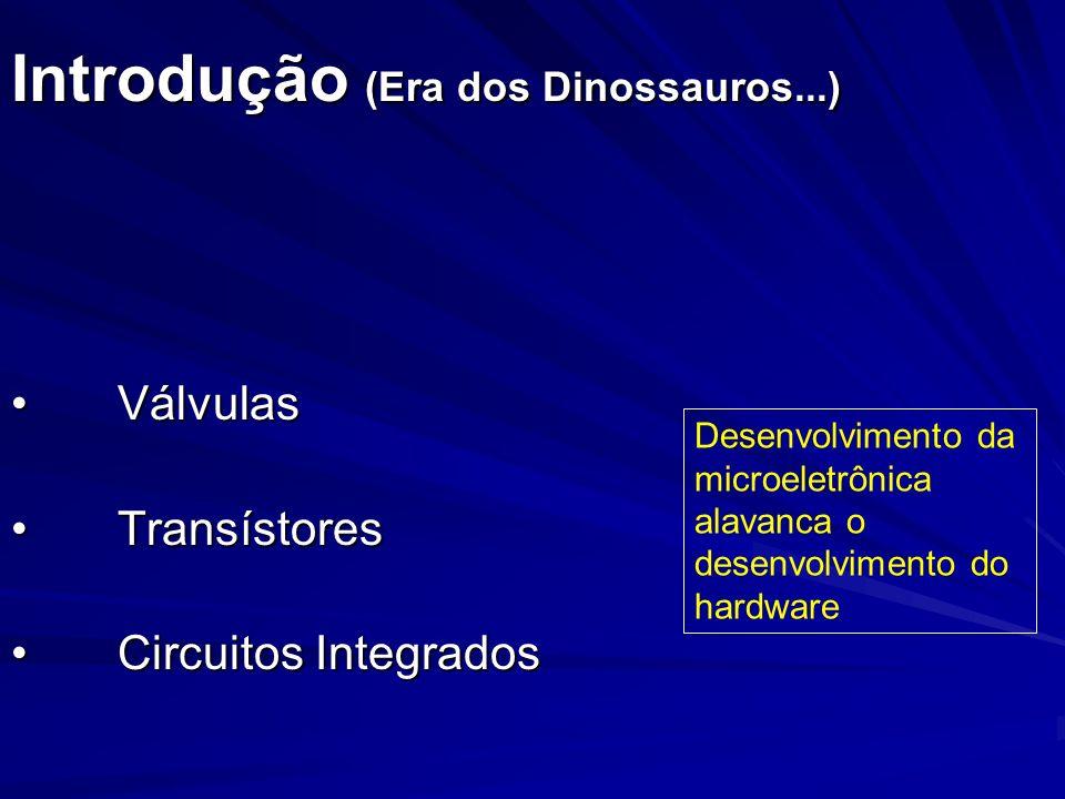 Introdução (Era dos Dinossauros...) VálvulasVálvulas TransístoresTransístores Circuitos IntegradosCircuitos Integrados Desenvolvimento da microeletrôn