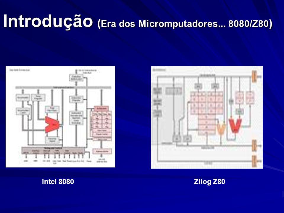 Introdução ( Era dos Micromputadores... 8080/Z80 ) Intel 8080Zilog Z80