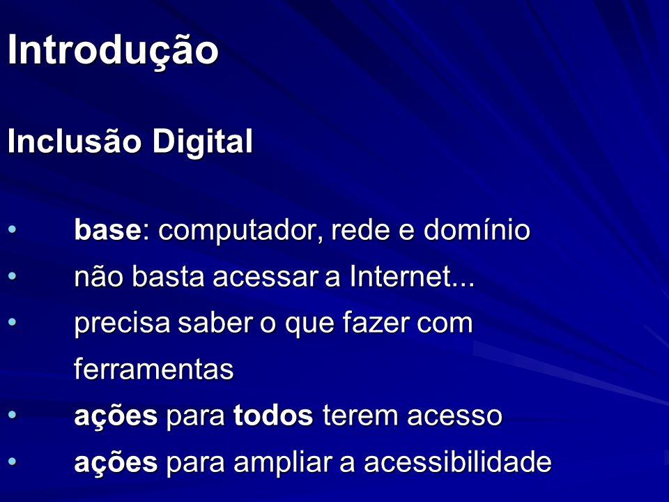 Conclusão Inclusão Digital X Inclusão Social Inclusão Digital X Uso de Grids Inclusão Digital X TV Digital Interativa Inclusão Digital X Grid@Anywhere