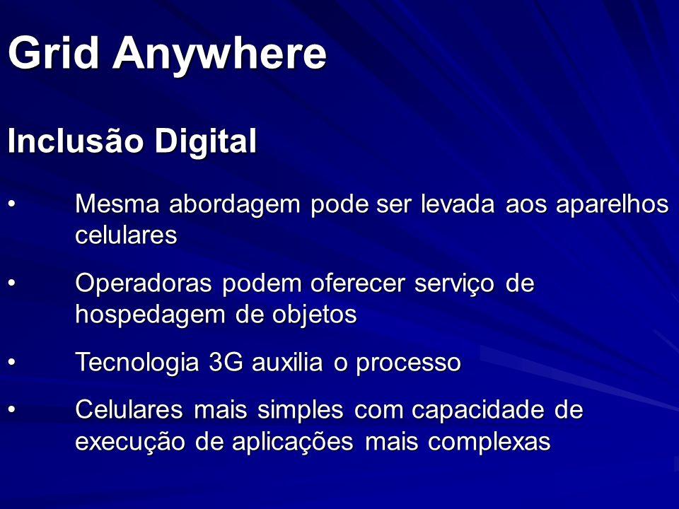 Grid Anywhere Inclusão Digital Mesma abordagem pode ser levada aos aparelhos celularesMesma abordagem pode ser levada aos aparelhos celulares Operador
