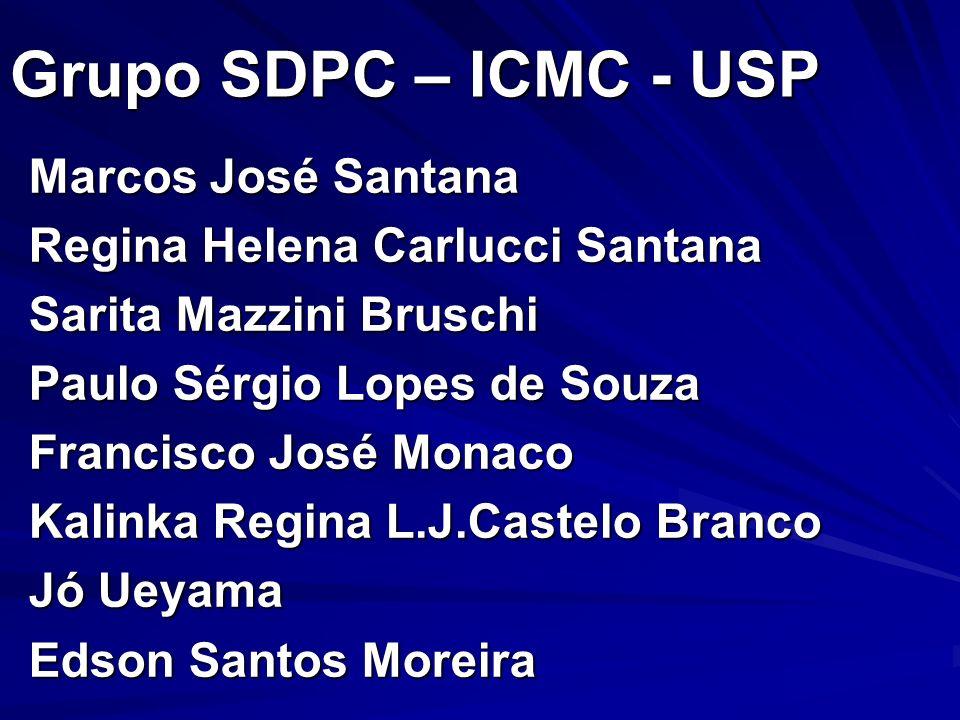 Grupo SDPC – ICMC - USP Marcos José Santana Regina Helena Carlucci Santana Sarita Mazzini Bruschi Paulo Sérgio Lopes de Souza Francisco José Monaco Ka