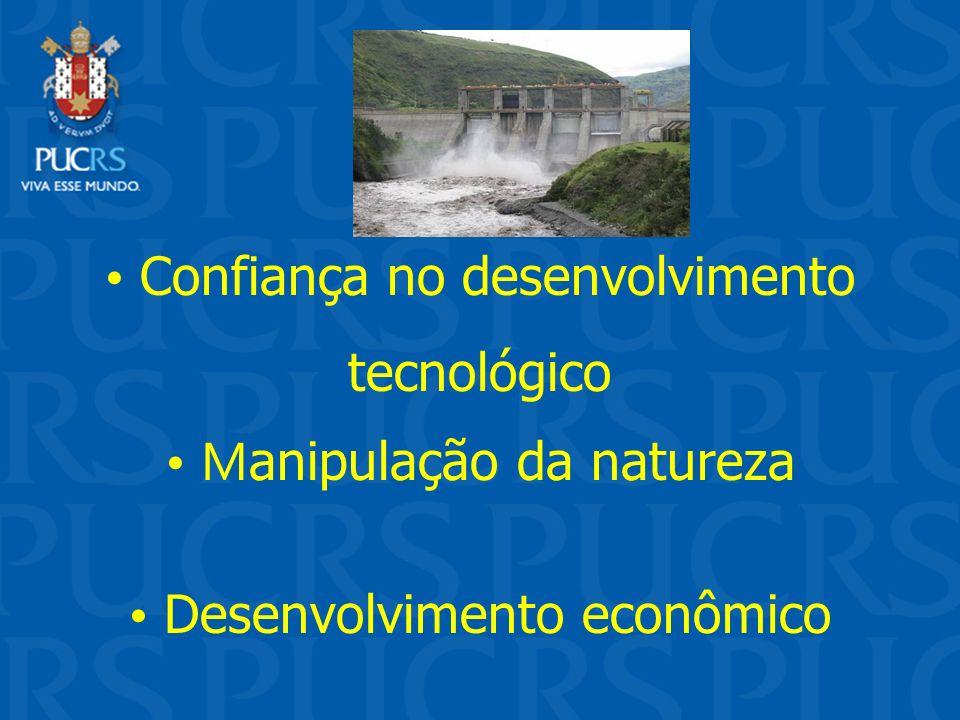 Confiança no desenvolvimento tecnológico M anipulação da natureza Desenvolvimento econômico