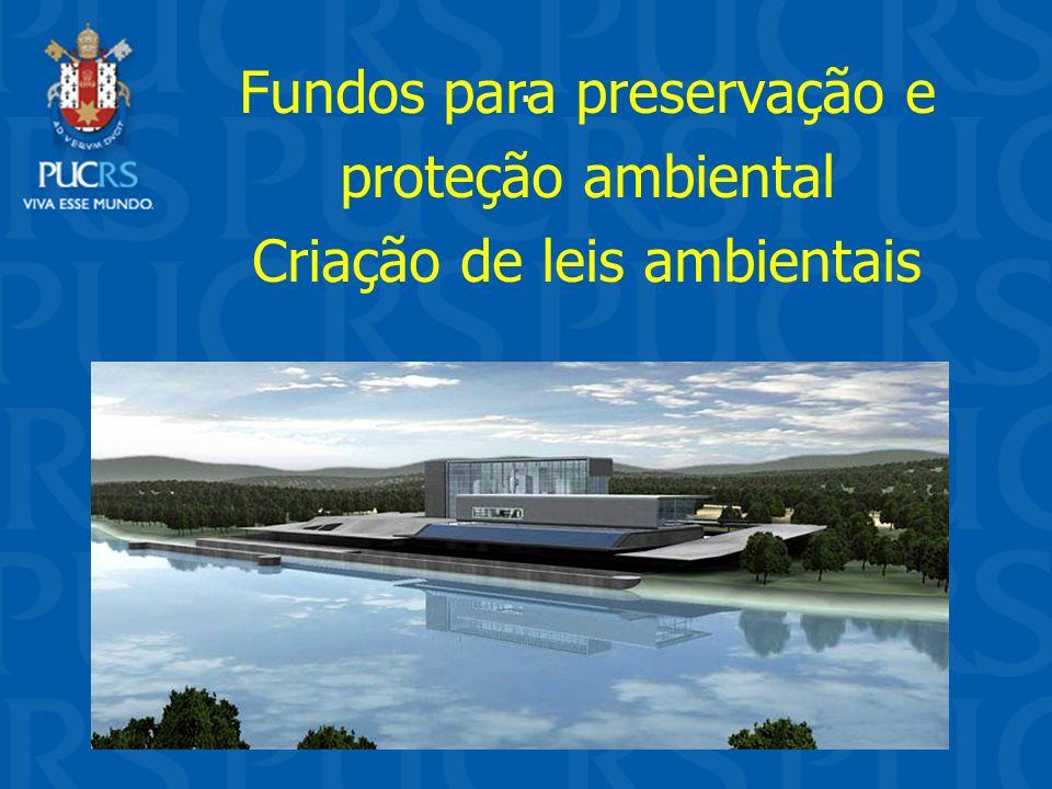 . Fundos para preservação e proteção ambiental Criação de leis ambientais