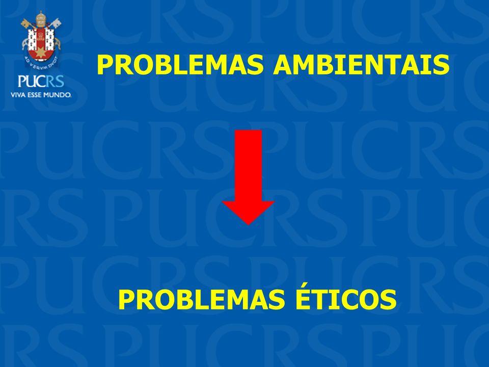 PROBLEMAS AMBIENTAIS PROBLEMAS ÉTICOS