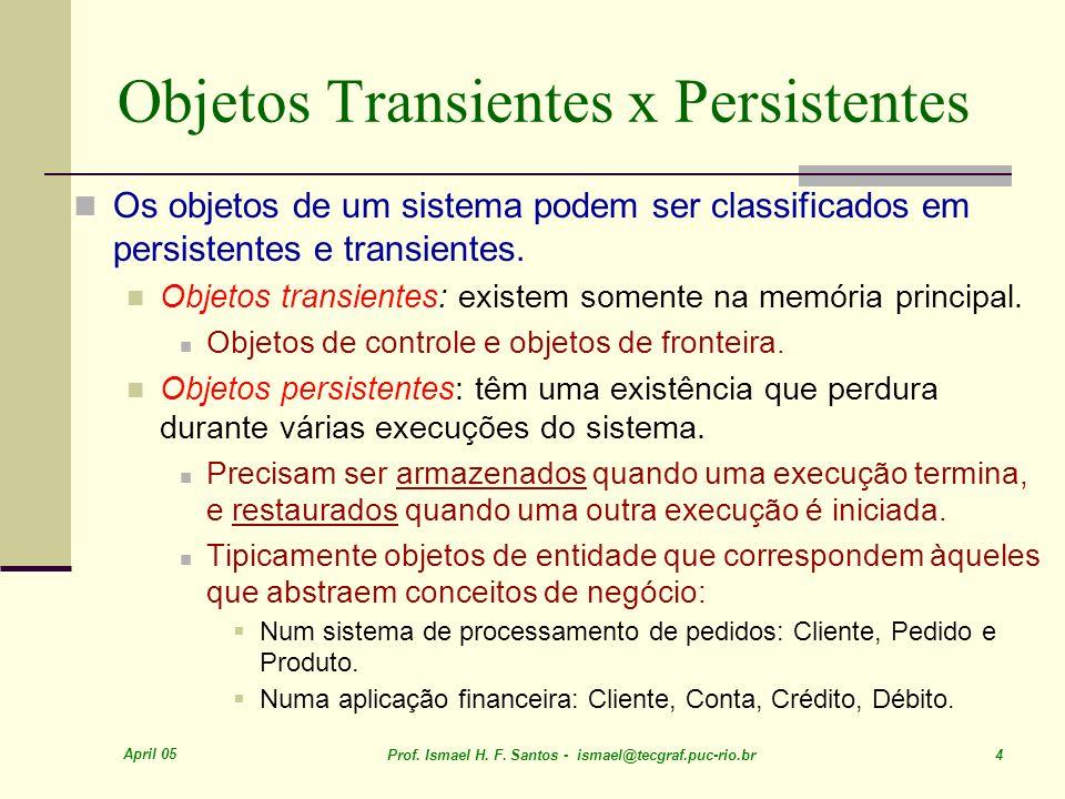 April 05 Prof. Ismael H. F. Santos - ismael@tecgraf.puc-rio.br 35 DAO - interação