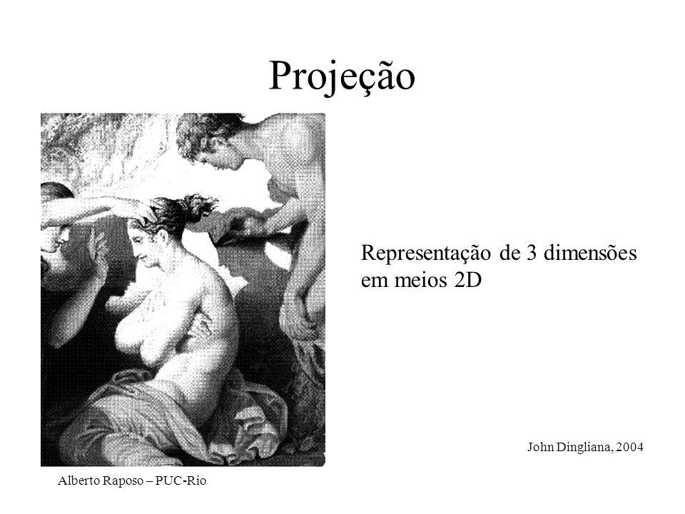 Alberto Raposo – PUC-Rio Projeção Representação de 3 dimensões em meios 2D John Dingliana, 2004