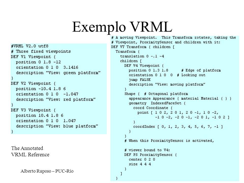 Alberto Raposo – PUC-Rio Exemplo VRML