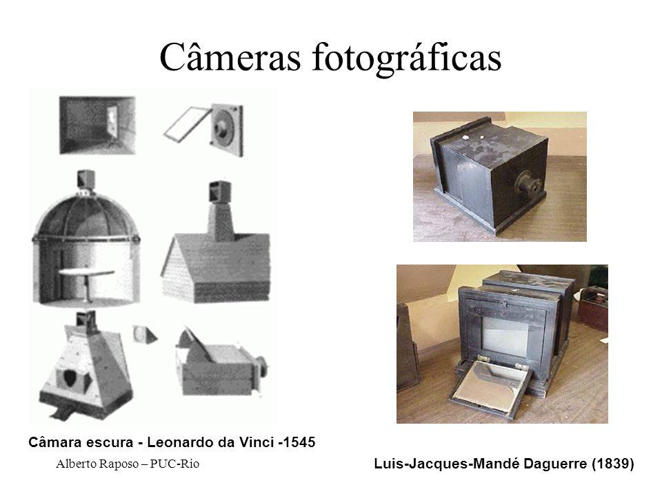 Alberto Raposo – PUC-Rio Câmeras fotográficas Luis-Jacques-Mandé Daguerre (1839) Câmara escura - Leonardo da Vinci -1545