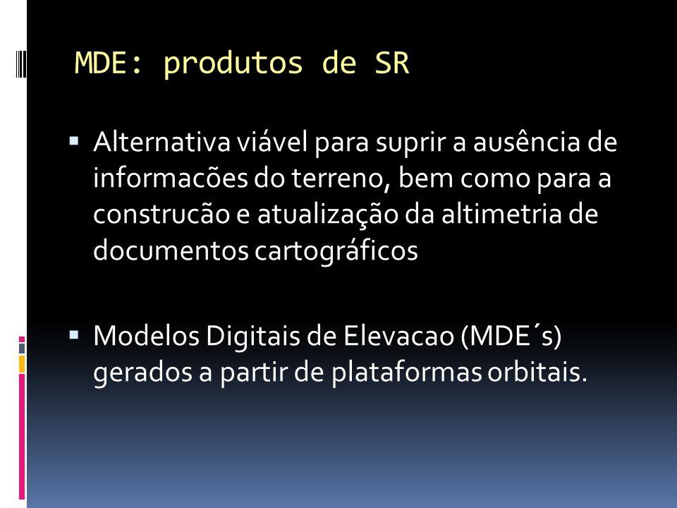 Alternativa viável para suprir a ausência de informacões do terreno, bem como para a construcão e atualização da altimetria de documentos cartográfico