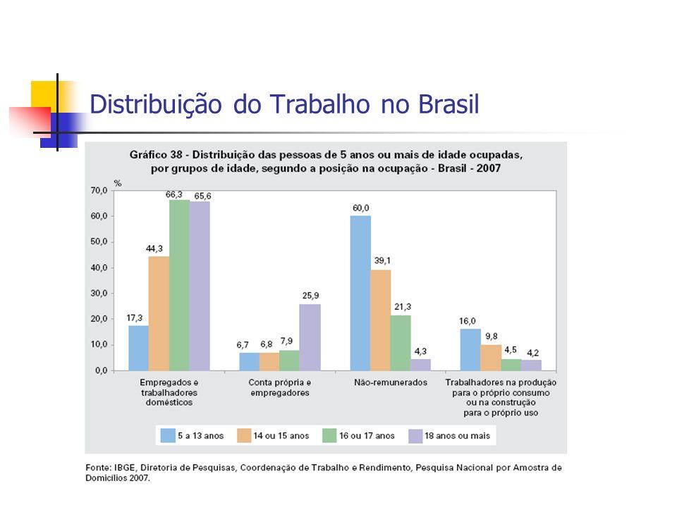 Distribuição do Trabalho no Brasil
