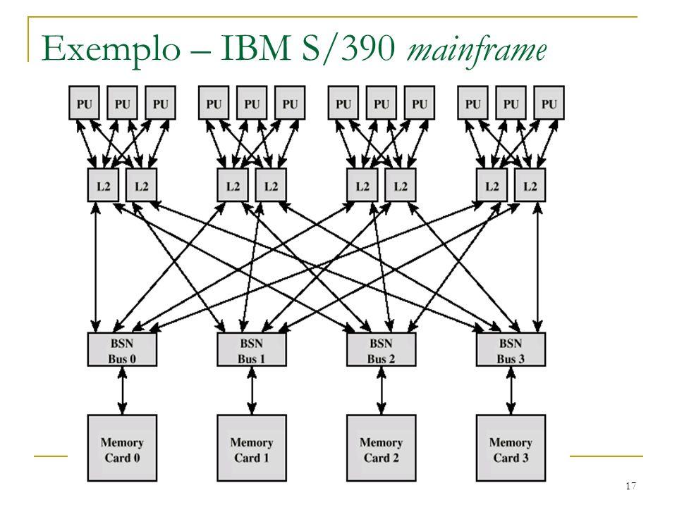 17 Exemplo – IBM S/390 mainframe