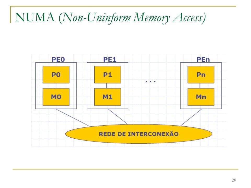20 NUMA (Non-Uninform Memory Access)
