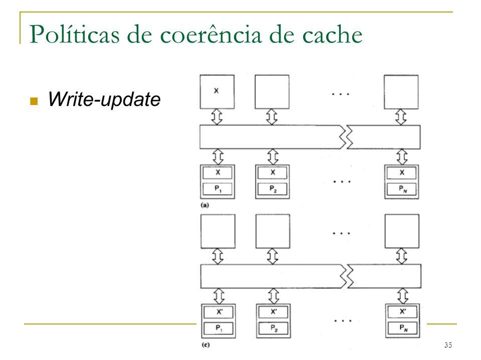 35 Políticas de coerência de cache Write-update